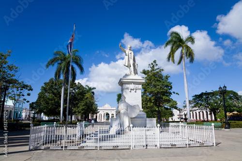 Photo  Jose Marti park, Cienfuegos, Cuba