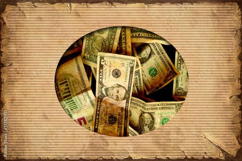Papiers peints Affiche vintage Vintage Label - Dollar I