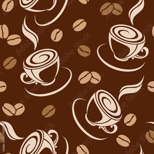 bezszwowe-tlo-z-ziaren-kawy-i-filizanki-wektor