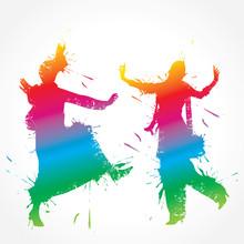 Colorful Bhangra And Gidda Dan...