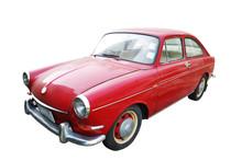 Vintage Old Red Car