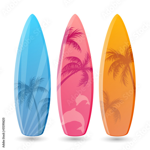 Vector Illustration Of Surfboard Designs Buy This Stock Vector And