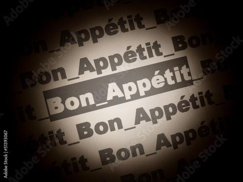 Fotografie, Obraz  bon appétit
