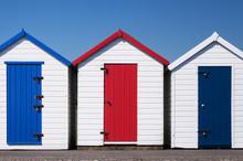 Colorful Beach Huts, Paignton,...