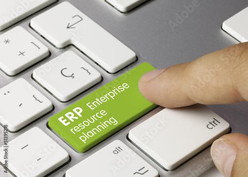 Fotografie, Obraz  ERP Enterprise resource planning keyboard
