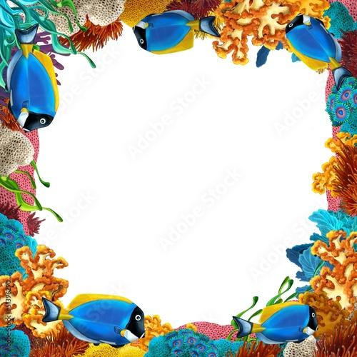 Recess Fitting Submarine The coral reef - frame - border - illustration for the children