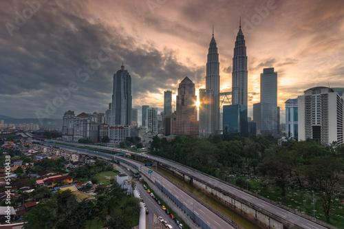Photo Stands Kuala Lumpur View over Kuala Lumpur