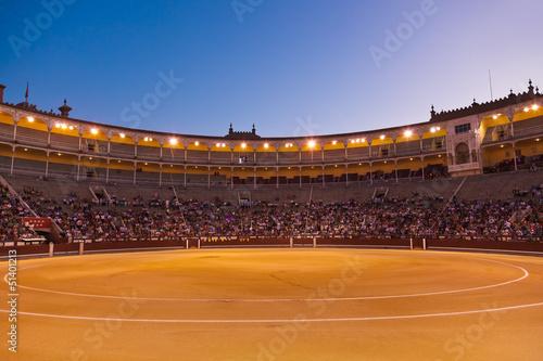 Leinwand Poster Stierkampfarena Corrida in Madrid Spanien