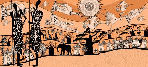 Photo sur Toile Art Studio composition about africa