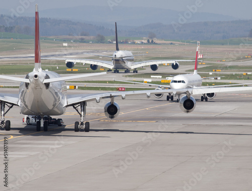 Taxiway Traffic Jam Poster