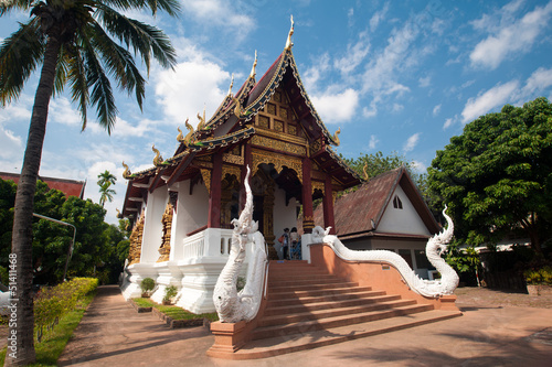 Beautiful temple and building at Chiangmai Thailand Canvas Print
