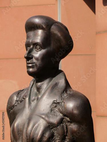 Fototapeta Skulptur von Rosa Luxemburg obraz na płótnie