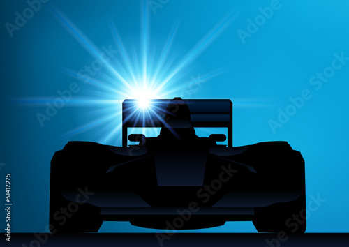 Valokuvatapetti Formule 1_contre jour