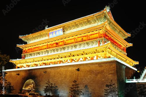 Foto op Plexiglas Xian Drum Tower in Xian, China
