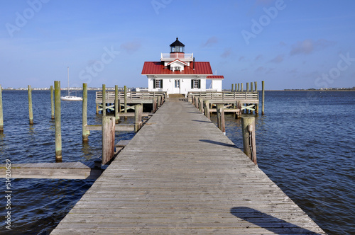 Fotografie, Obraz  Roanoke Marshes Lighthouse in Roanoke Island, North Carolina