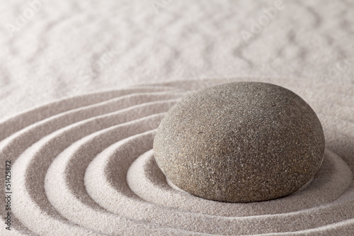 Foto op Plexiglas Stenen in het Zand zen meditation garden
