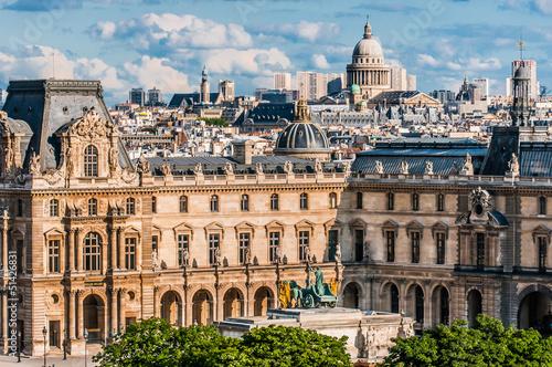 Le Louvre paris city France Fototapet