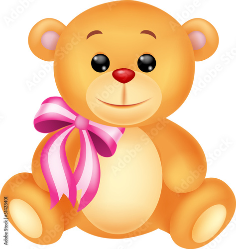 Fotobehang Beren Cute brown bear stuff cartoon
