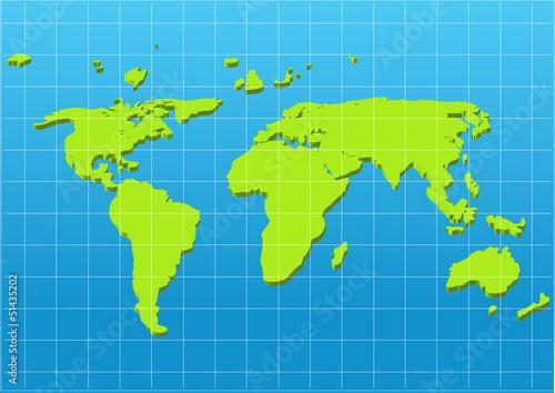 Poster Carte du monde map of the world,vector design