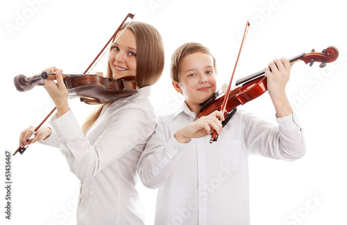 Photo  Violin duet