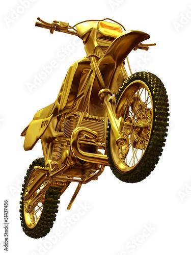 Poster Motocyclette golden Motocross Motor bike