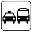 Taxi Auto Bus Vektor Icon Button