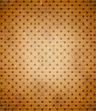 Scratched Cardboard With Polka Dot Pattern