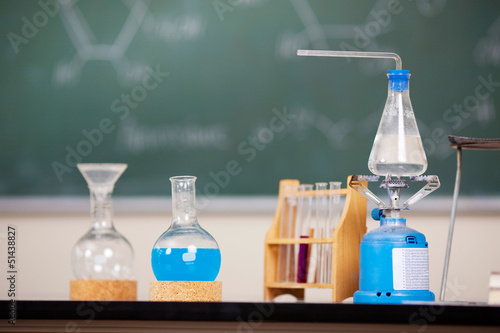 Fotografie, Obraz  versuchsaufbau chemie