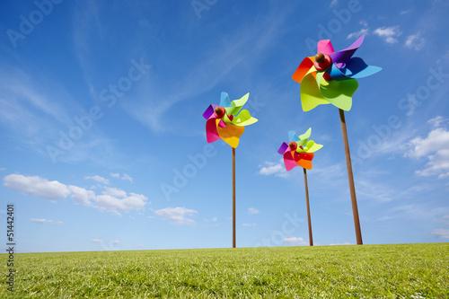 Fotografia, Obraz  Toy windmill concept of green energy wind farm