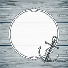 Nautical Card With Frame Of Th...