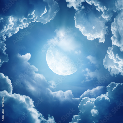 Fotobehang Volle maan moonlight