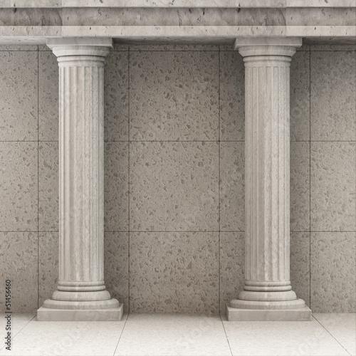 Fototapeta Classic Ancient Interior with Columns obraz na płótnie