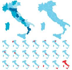 Karta regija Italije