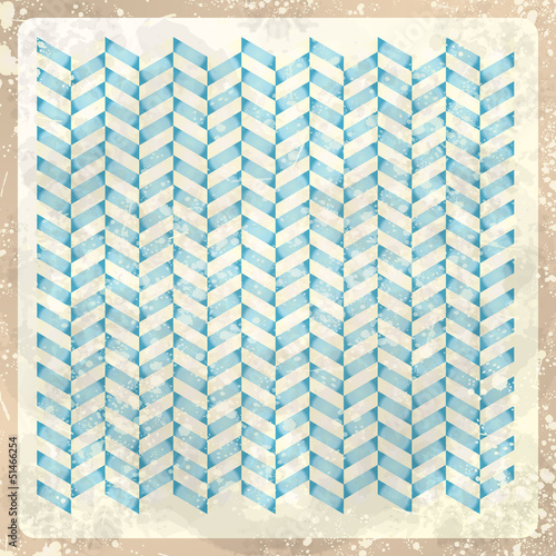 Spoed Foto op Canvas ZigZag Abstract retro background