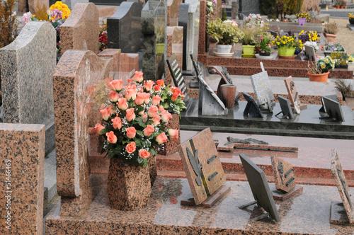 Foto op Canvas Begraafplaats France, the cemetery of Triel Sur Seine