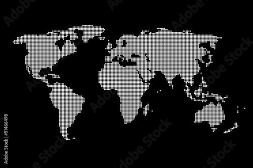 Carte Du Monde Faite De Pixels Buy This Stock Illustration
