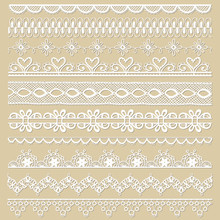 Set Of Lace Ribbons - For Desi...
