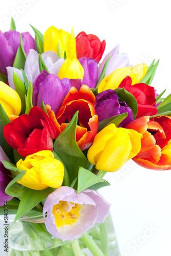 In de dag Tulp Tulpenstrauss