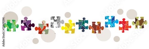 Obraz na plátně Diversity and connectivity concept