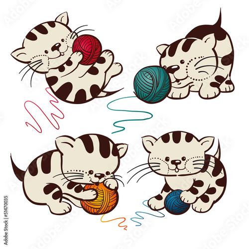 Printed kitchen splashbacks Cats Kittens