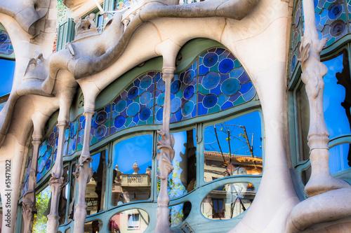 Fényképezés  Casa Battlo designed by Antoni Gaudi,Barcelona, Spain