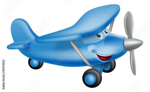 postac-z-kreskowki-niebieski-samolot