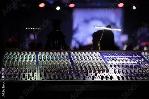 Fotografie, Obraz  Mixing console.