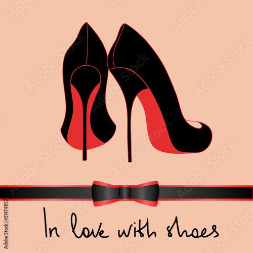 Fotografia Background of black pair of shoes