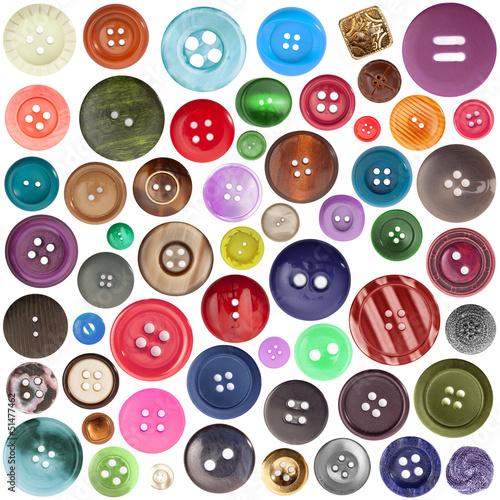 Papiers peints Macarons bottoni colorati collage