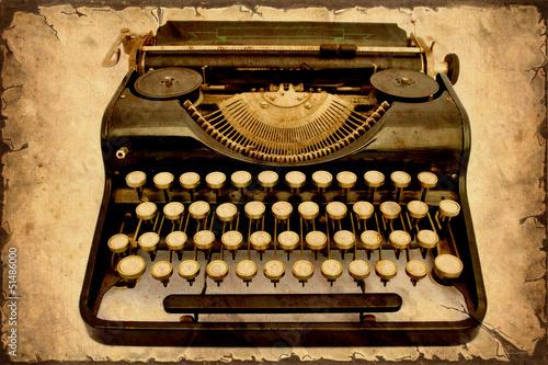 Foto op Plexiglas Vintage Poster Retroplakat - Alte Schreibmaschine III