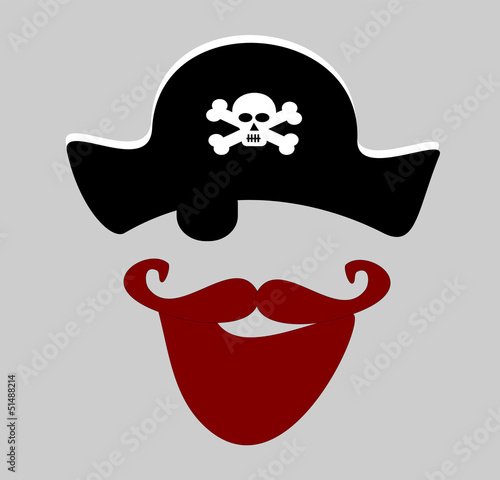 Valokuva  pirate with red beard