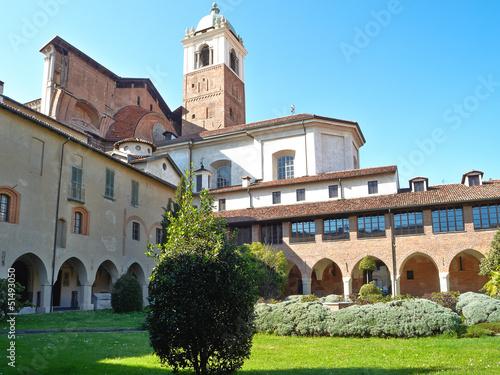 Fotografie, Obraz  Novara quadriportico della Canonica color image