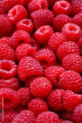 Canvas Prints Fruits raspberries