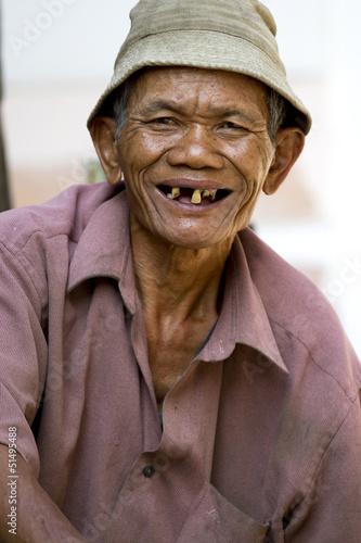Photo  Laughing Old Man